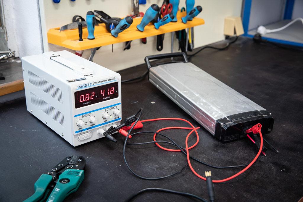 Měření baterie na elektrokolo